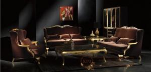 Kursi Tamu Sofa Antik Brown