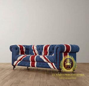 Sofa Chesterfield Bendera Inggris
