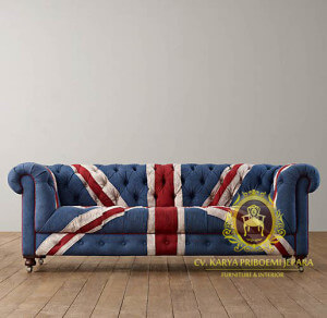 Sofa Chesterfield Model Union Jack