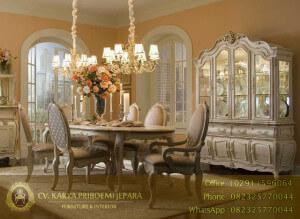 Set Meja Makan Klasik Oval Aico Lavelle