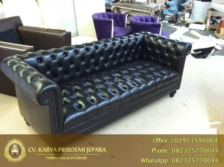 Sofa Chesterfield Simnu Synthetic