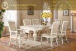 Meja Makan 6 Kursi Duco Putih