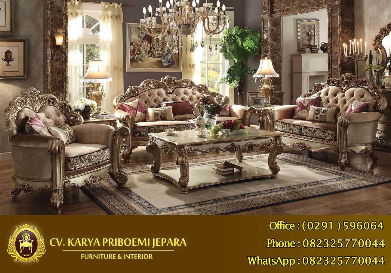 Kursi Tamu Klasik Mewah Patina, Kursi Tamu Mewah Klasik Eropa Asli Furniture Jati Jepara Harga Murah Berkualitas Terbaik
