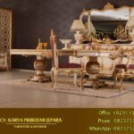 Meja Makan Mewah Alexandra Klasik Eropa