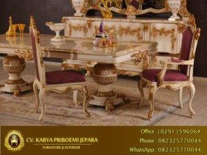 Set Meja Makan Klasik Mewah Alexandra