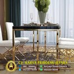 Meja Makan Stainless Gold